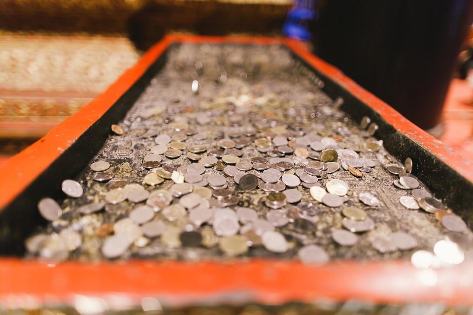 poházené mince